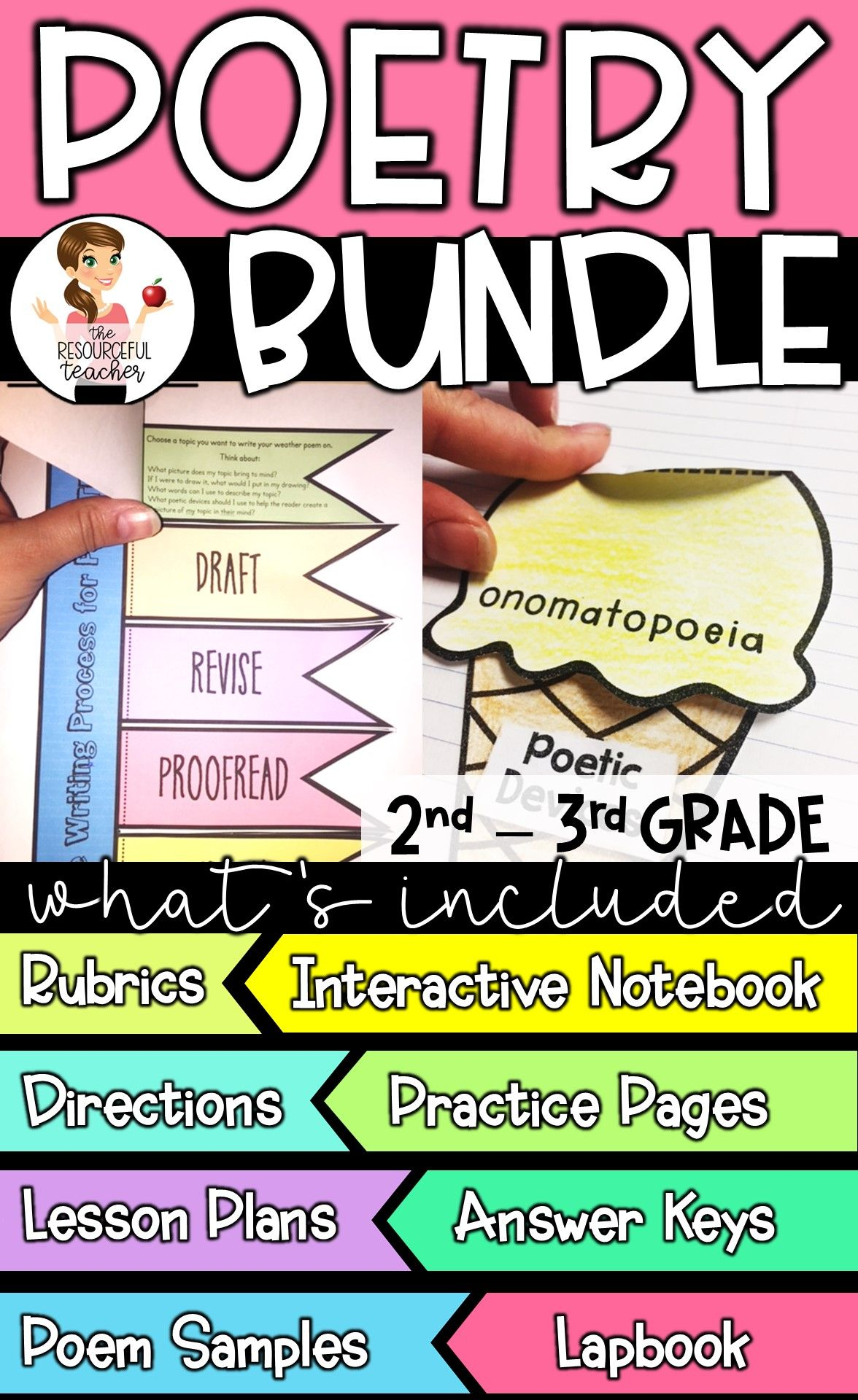 Poetry Writing Bundle With Interactive Notebook Amp Lapbook