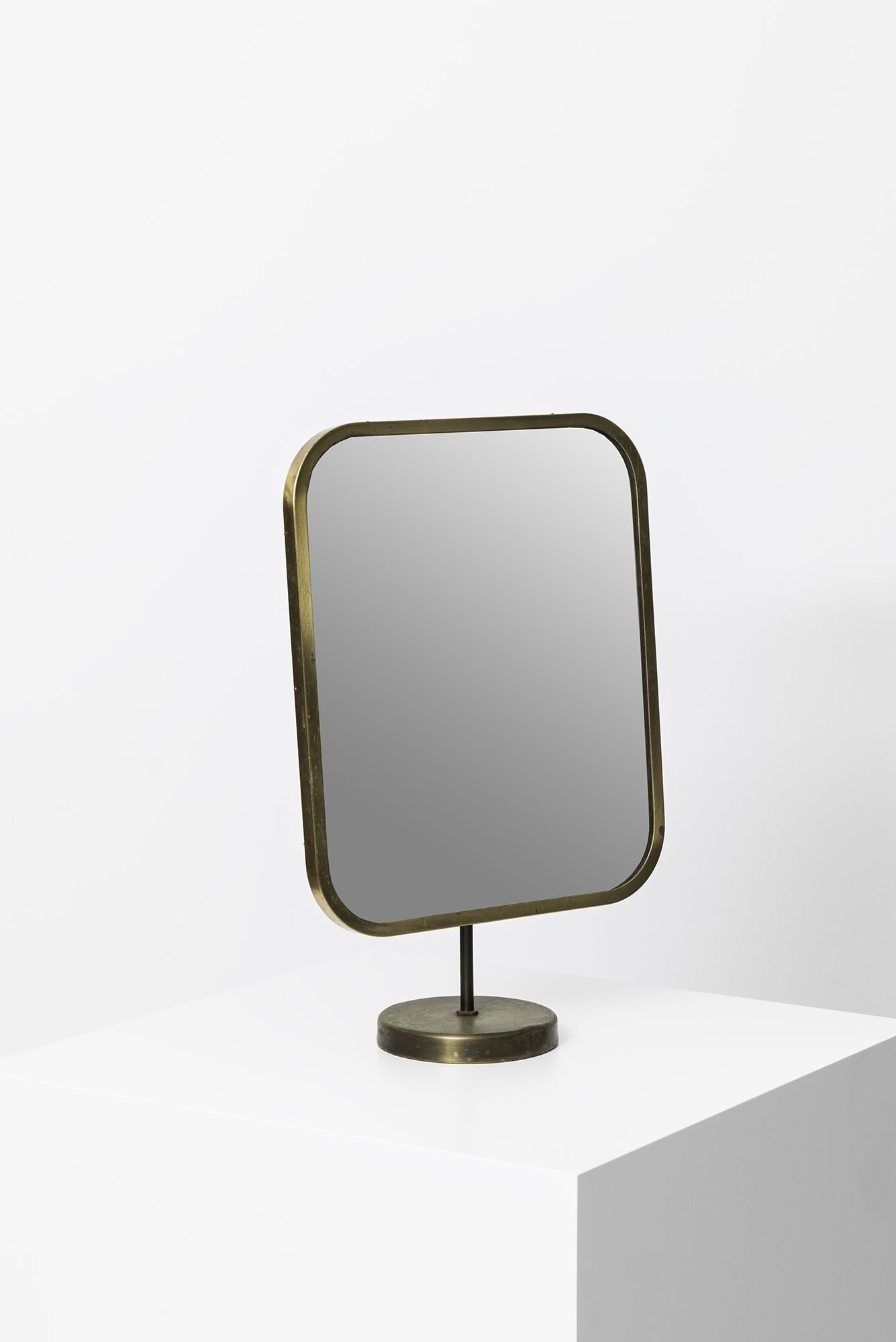 Josef Frank; Brass and Glass Table Mirror for Nordiska Kompaniet ... - Josef Frank; Brass and Glass Table Mirror for Nordiska Kompaniet, 1950s.  Via Studio