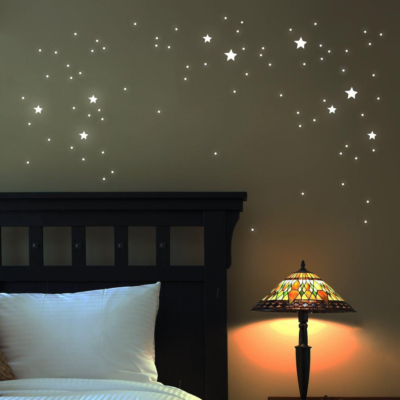 Vintage Wandtattoo Sterne fluoreszierend Stk Das fluoreszierende Wandtattoo ist zu Rauhfaser tauglich Wandtattoo leuchtend fluoreszierende Sterne Inhalt