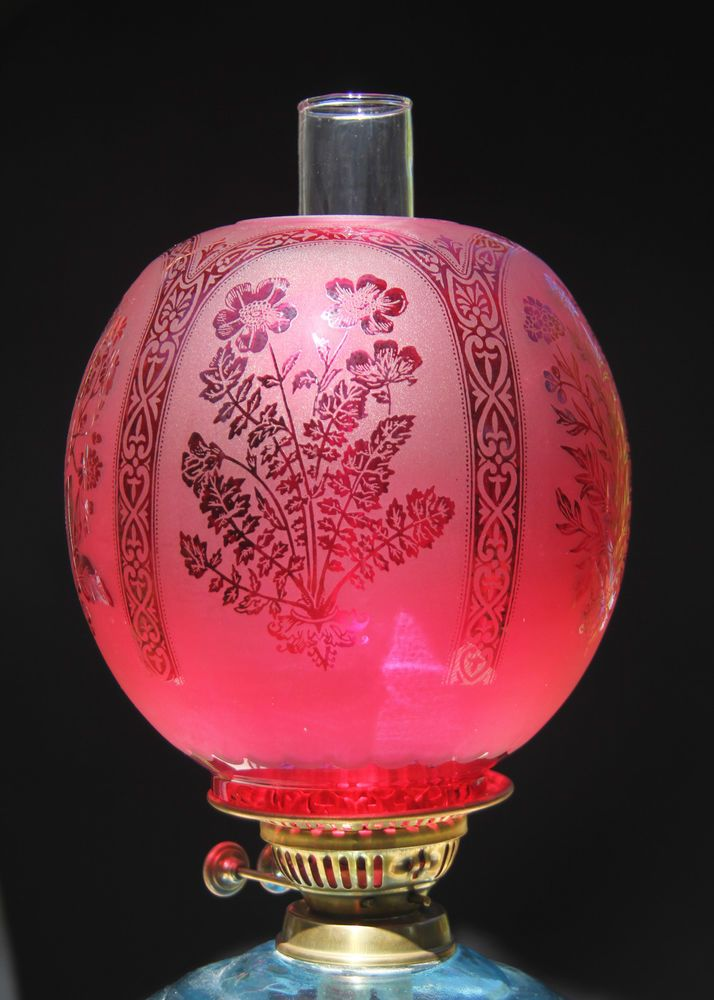 Oil lamp shade large ball ruby 4 fit oil lamps kerosene lamp oil lamp shade large ball ruby 4 fit mozeypictures Gallery