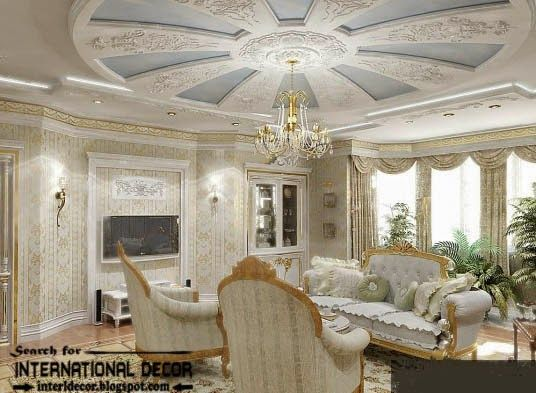 Ceiling Molding Design Ideas image by crown molding picture of a coffered ceiling installed by the wwwthefinishingcompany ceiling molding Gypsum Board Ceiling For Classic Interior Design Classic Italian Interior Gypsum Molding