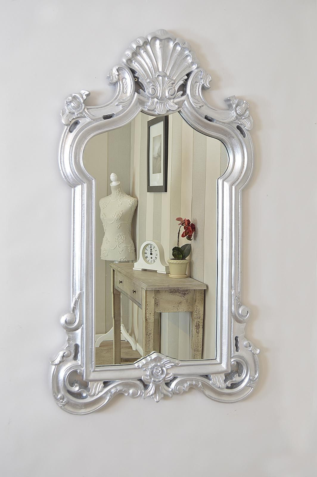 Baroque Wall Mirror large new bright silver baroque style big wall mirror 3ft11 x 2ft4