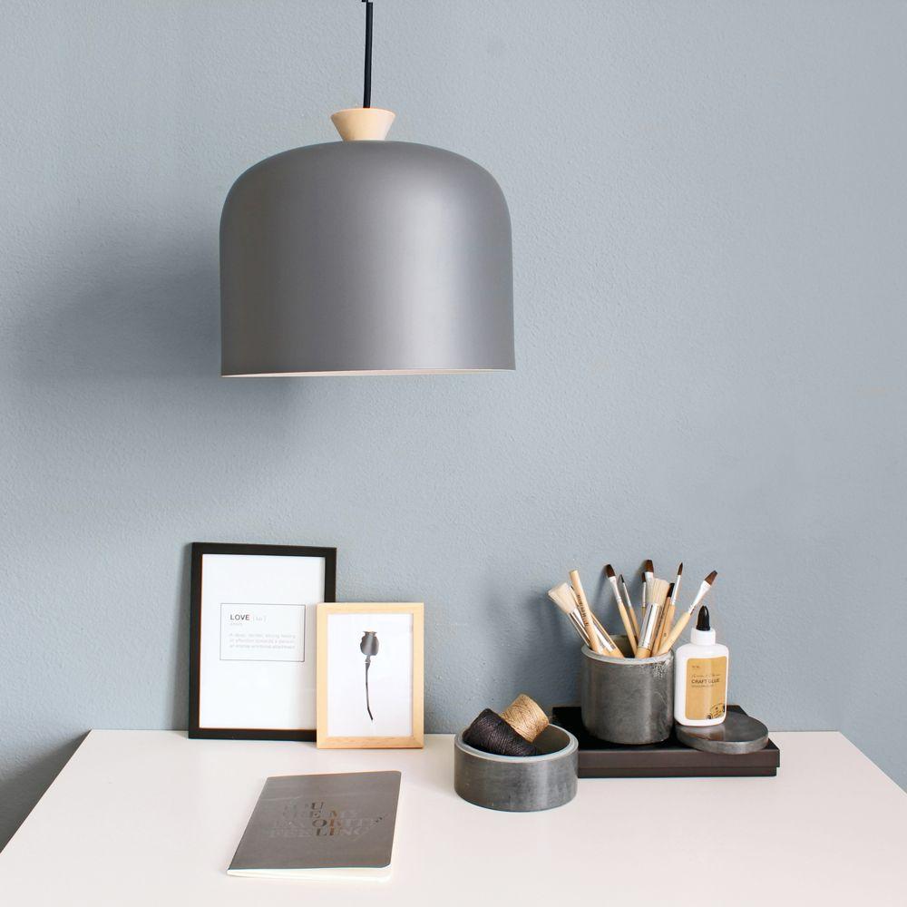 Scandinavische landelijke lamp jits grijs 27 cm for Landelijke lampen