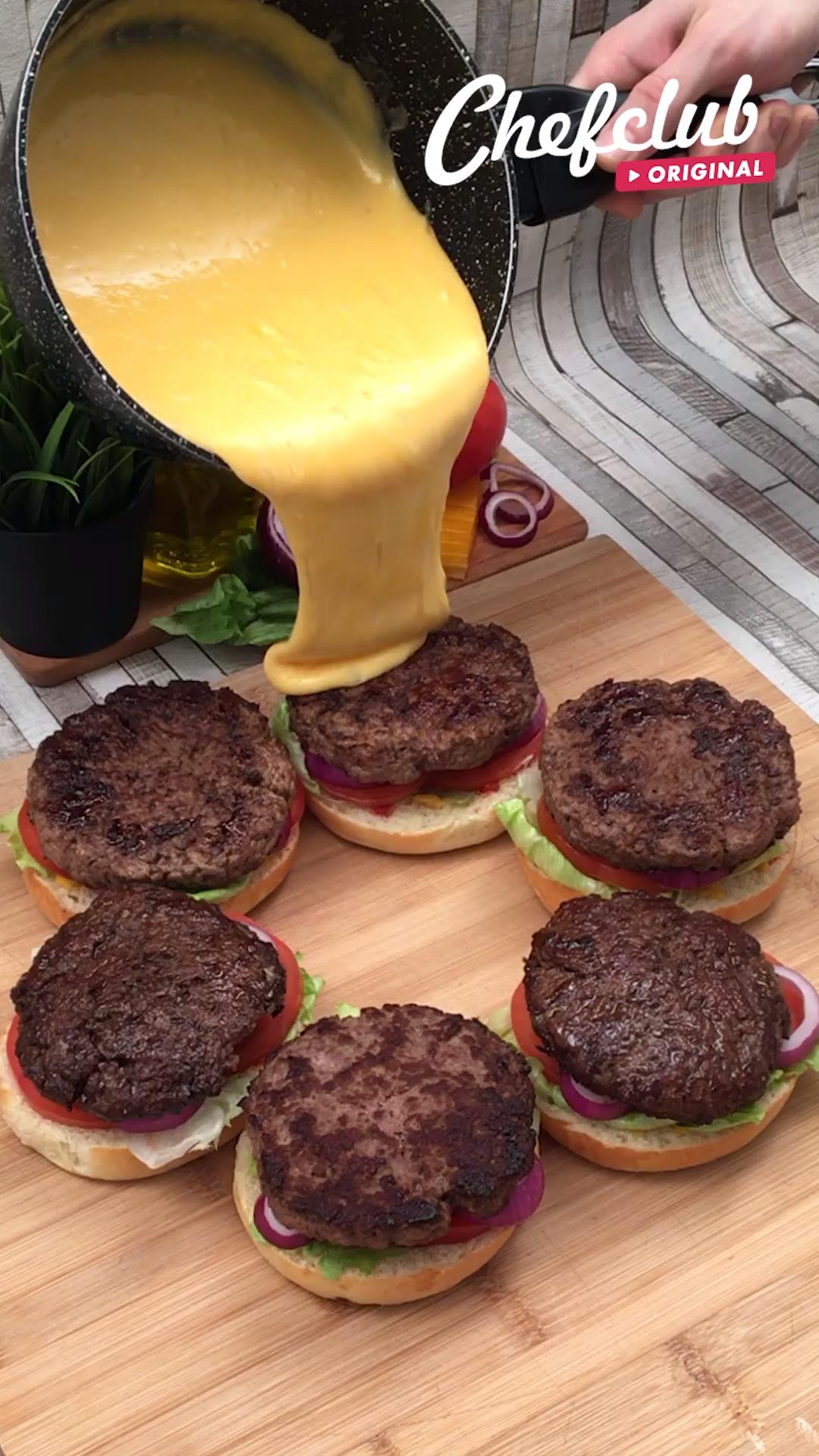Burning Cheeseburger