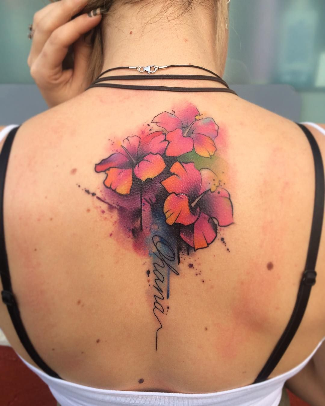 Hele Mooie Bloem Representeert Amber Hibiscus Tattoo Ohana Tattoo Color Tattoo