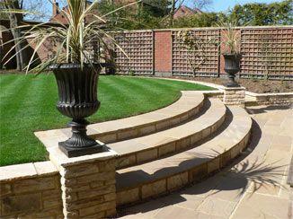 Inspiring split level landscaping myhomeimprovement for Small split level garden ideas