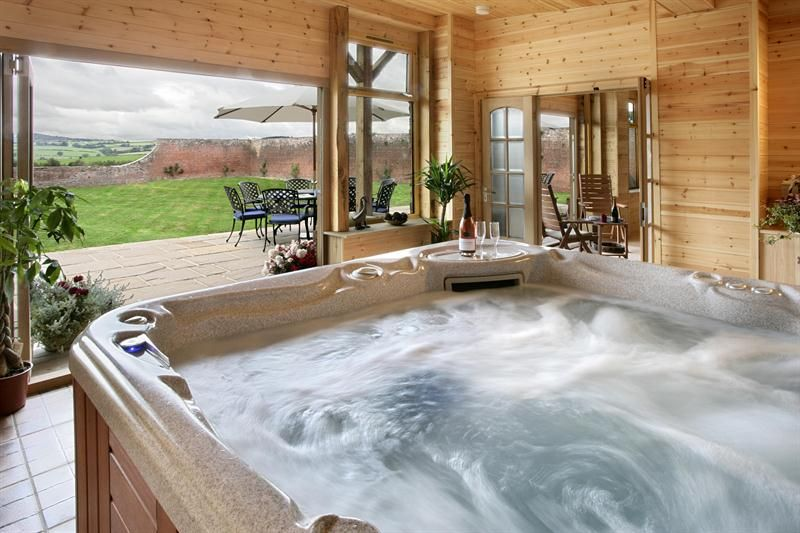 Luxury Holiday Cottages In Herefordshire Trevase Cottages Indoor Hot Tub Hot Tub Holidays Luxury Cottage