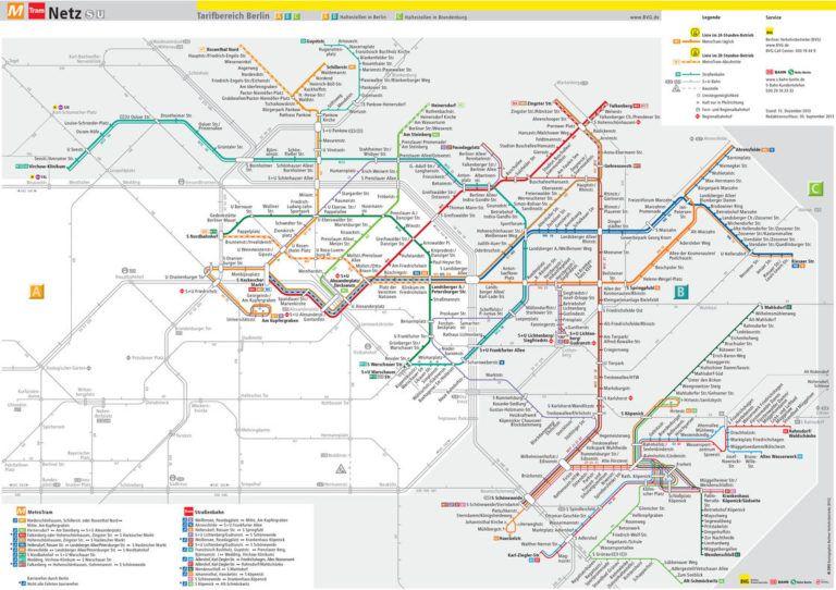 Cartes Et Plans Detailles De Berlin Carte Du Metro Mur De