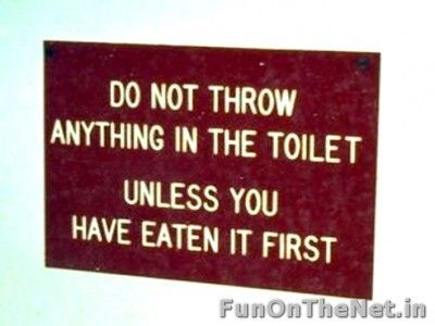 Keep The Toilet Clean Hilarious Signs In 2019 Toilet Rules