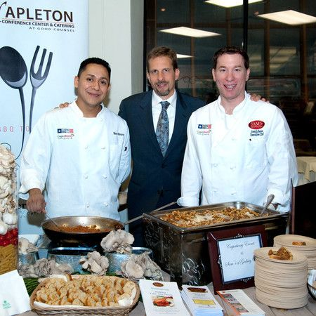 CHEF MARCO, DAVE PELLON CATERING DIRECTOR, EXE CHEF SASSO