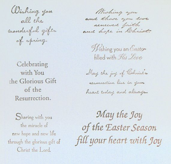 31 Religious Happy Easter Greeting Card Messages – Easter Card Sayings