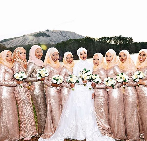 Sehammohamed Muslim Wedding Bridesmaid Muslim Wedding Gown