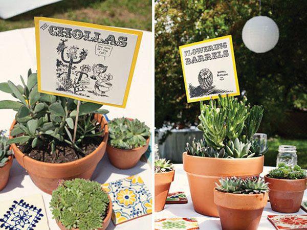 Centro de mesa para boda con cactus en maceta centros de - Macetas para centros de mesa ...