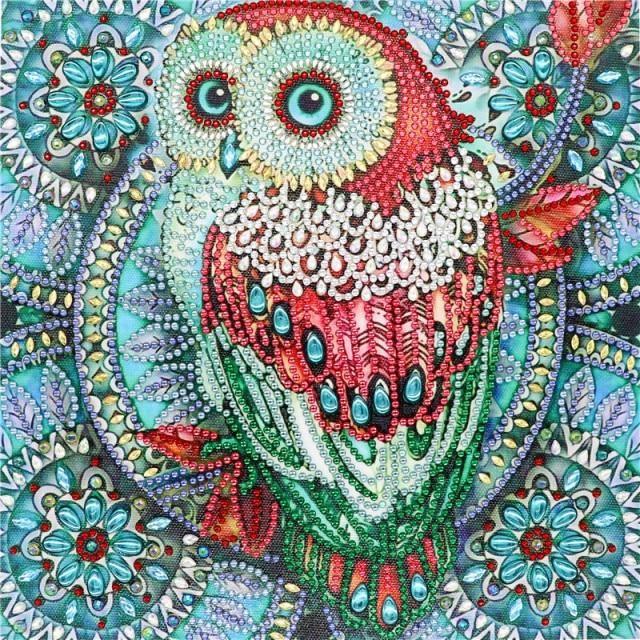 Photo of 5D DIY Diamond Painting Special Diamond Embroidery Flower Tree Owl Diamond Painting Rhinestone Crystal Home Decoration Diamond Painting Cross Stitch  – 5 / 30*30cm