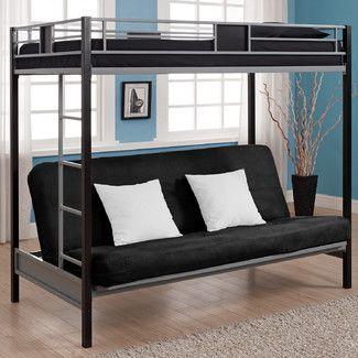 found it at wayfair   twin over futon screen bunk bed loft bed   twin mattress over futon   brayden   pinterest      rh   pinterest