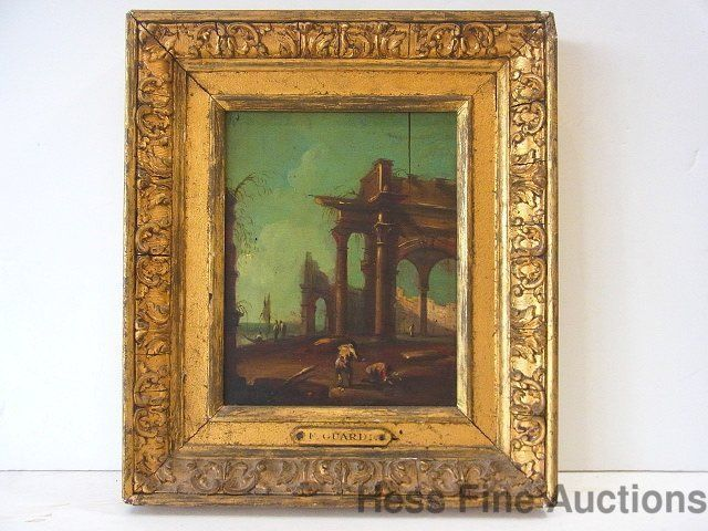 Old Estate Classical Ruins Oil Painting on Panel as Illustrated in our images #Realism