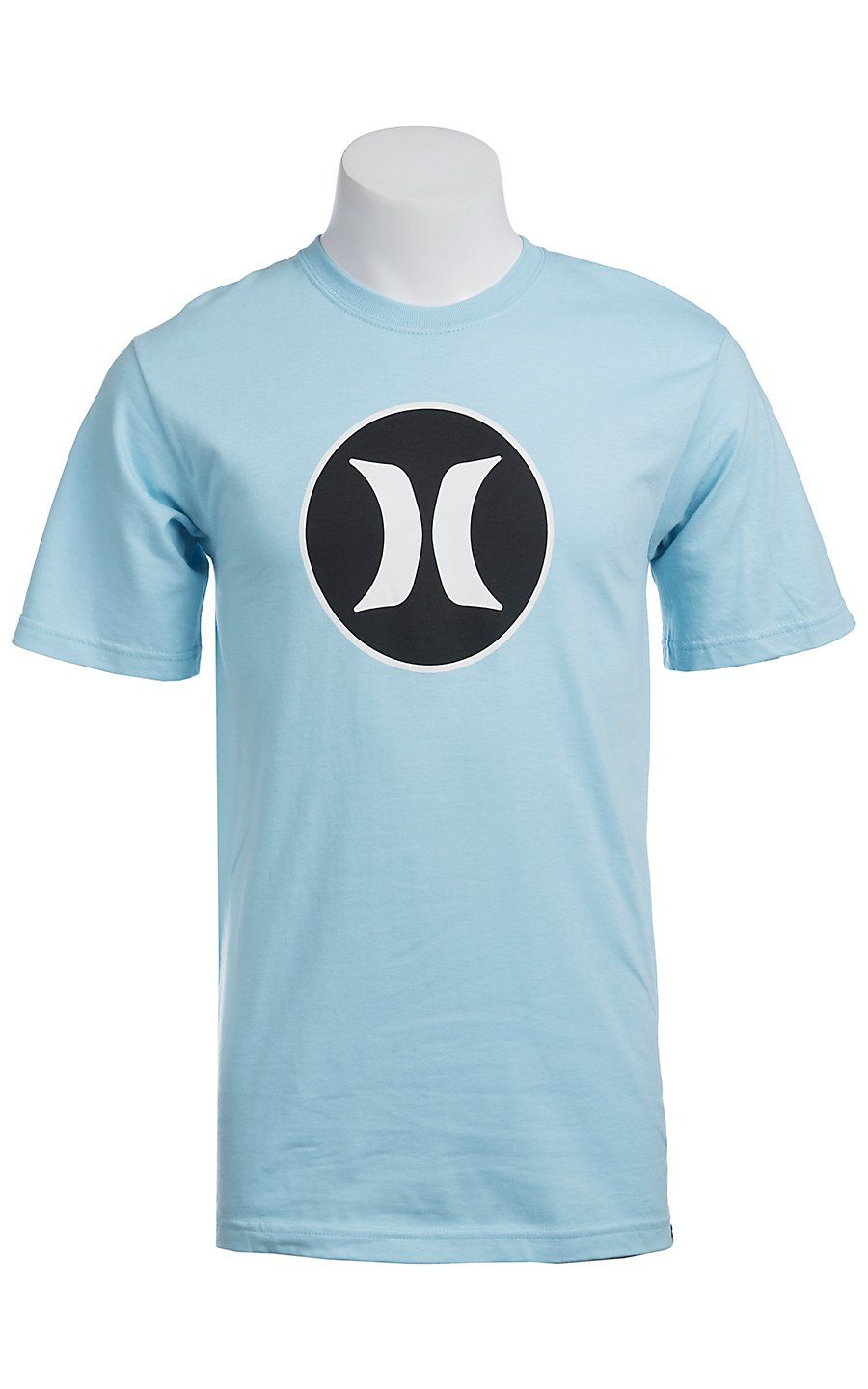 Hurley® Light Blue Block Party Icon Logo Classic Fit Short Sleeve ... 2691fd3ea14
