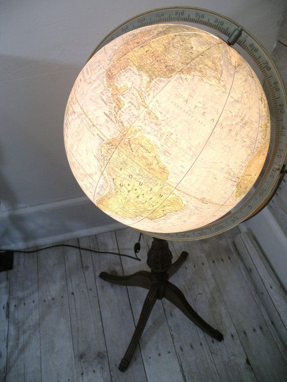 A retro, vintage globe lamp - beautiful and informative..