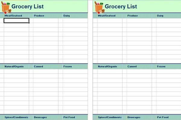 Organized Shopping List Template  Pros  Cons Of Grocery List