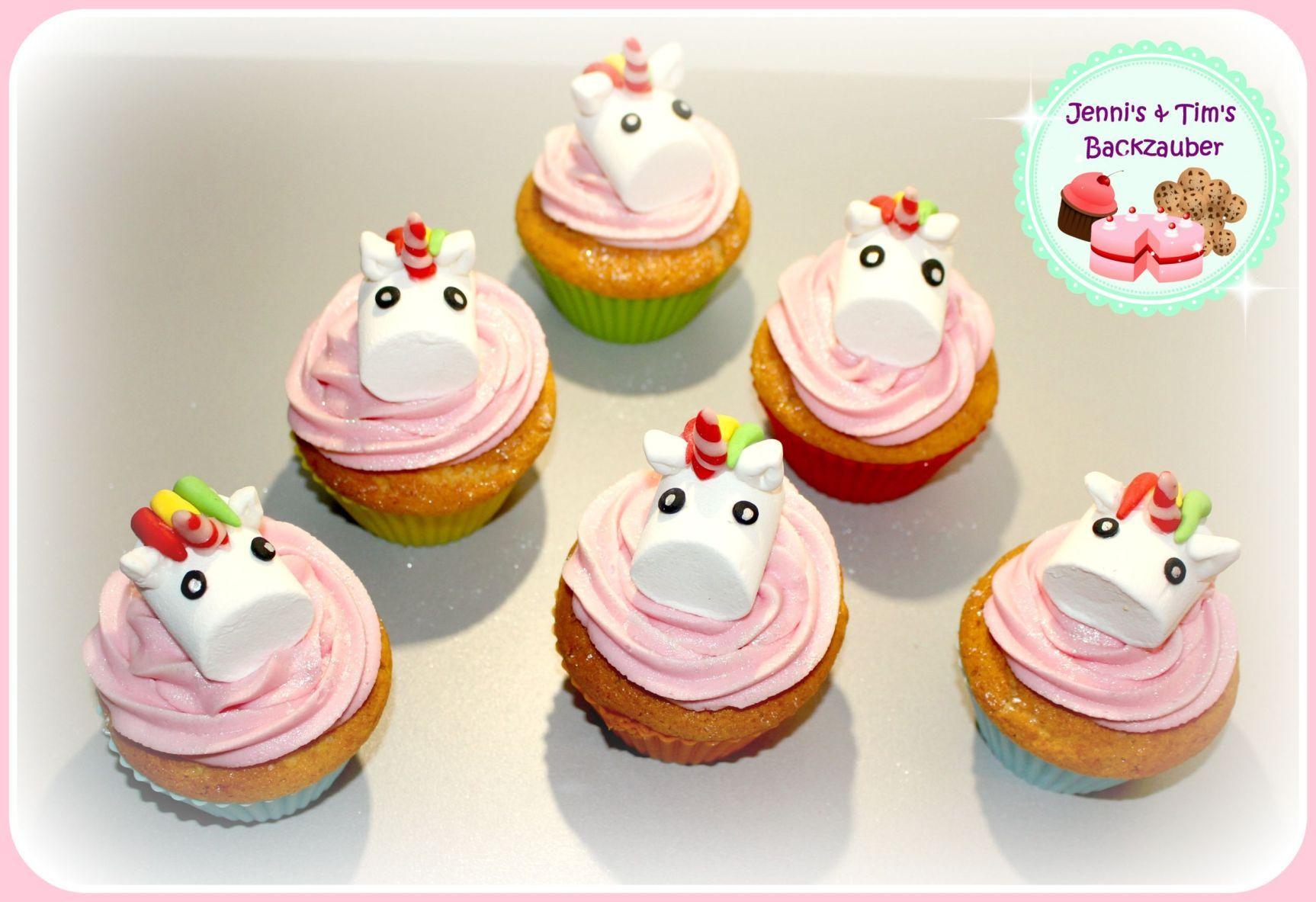 Einhorn Cupcakes «mit Marshmallows» #marshmallow