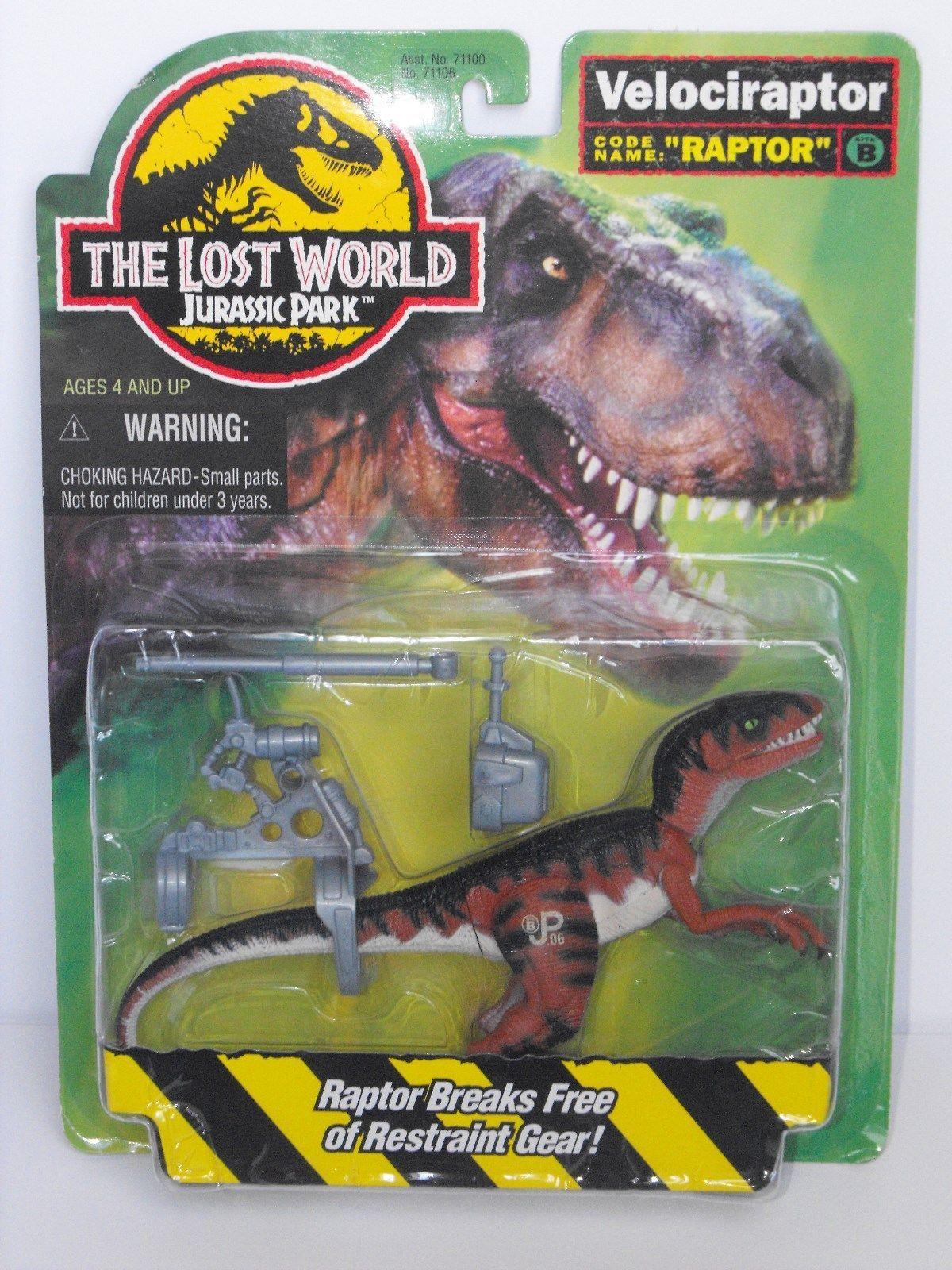 1996 Jurassic Park Lost World Movie Action Figure Velociraptor