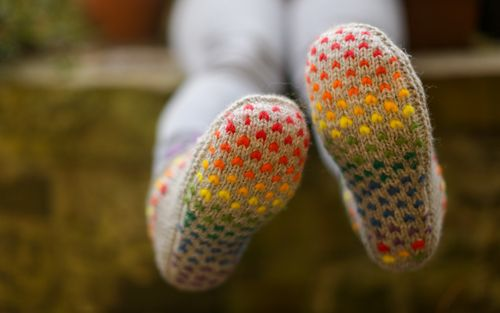 Cadeautje with rainbow fibre