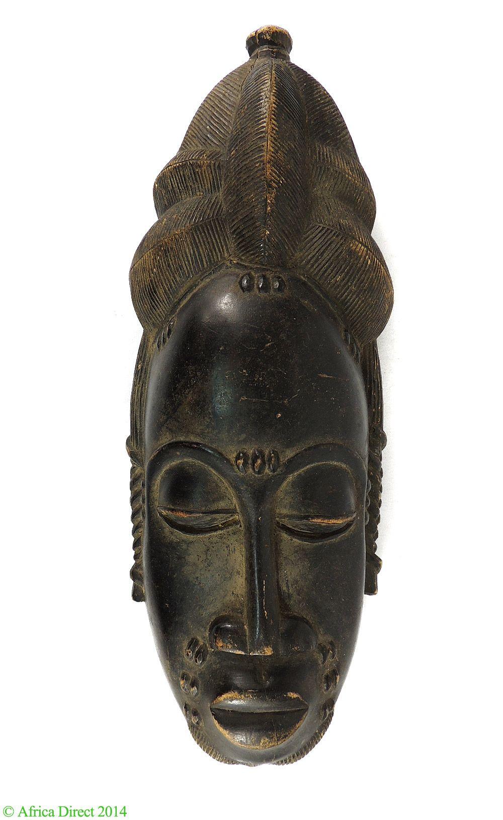 Baule Portrait Mask Finial Hairstyle Africa - Baule, Guro - African Masks