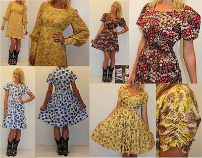 Lots of Vintage Dresses