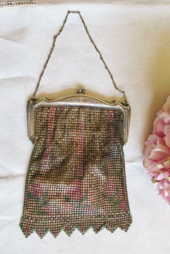 Flapper purse 1900 enamel coloring