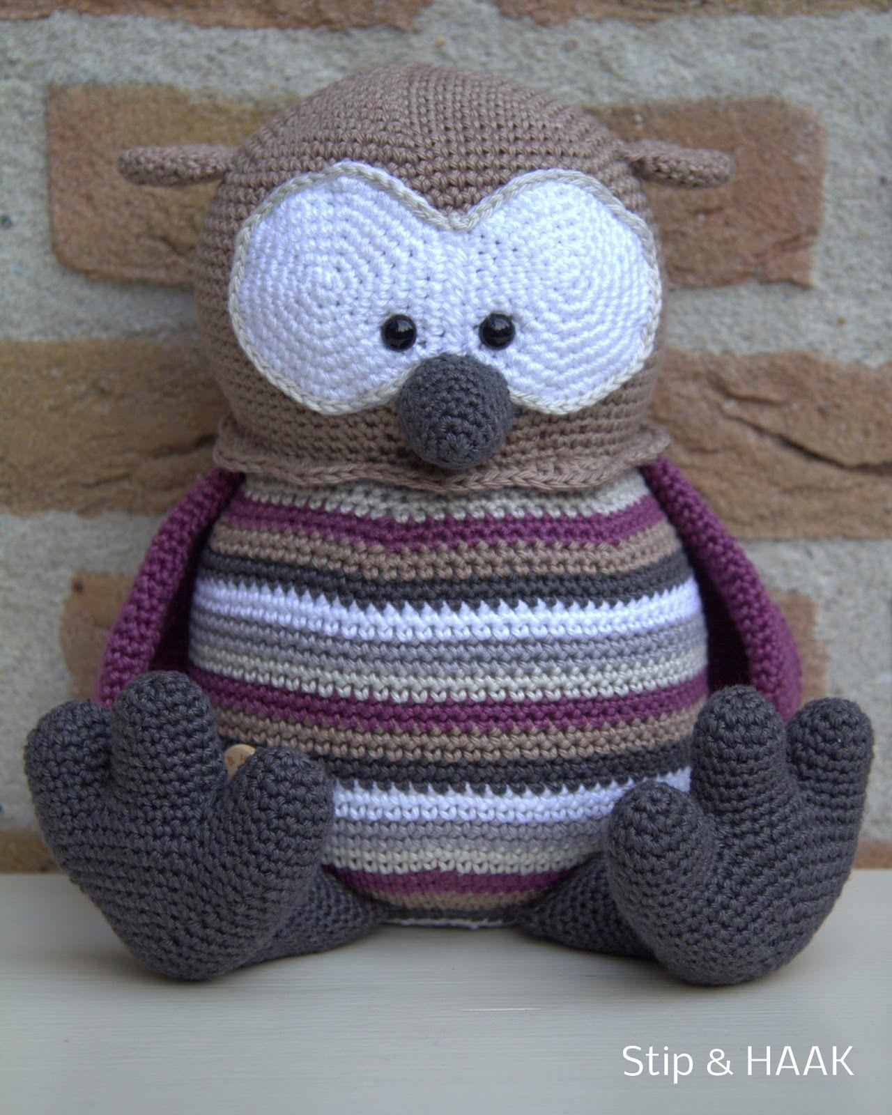 Uil Floortje Stip Haak Crochet Crochet Owls Crochet