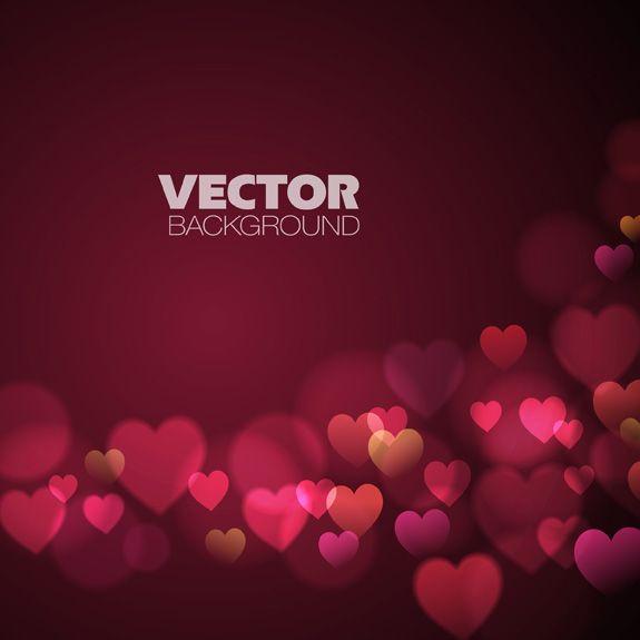 Love Vector Background Dream Free Vector