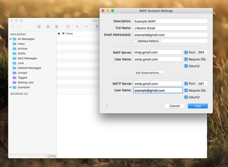 Use These Imap Settings To Receive Gmail Through An Application Email Providers Gmail Messages