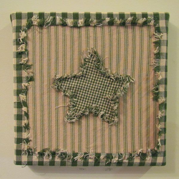 Shabby Star Wall Art Fabric Kit - $5.49