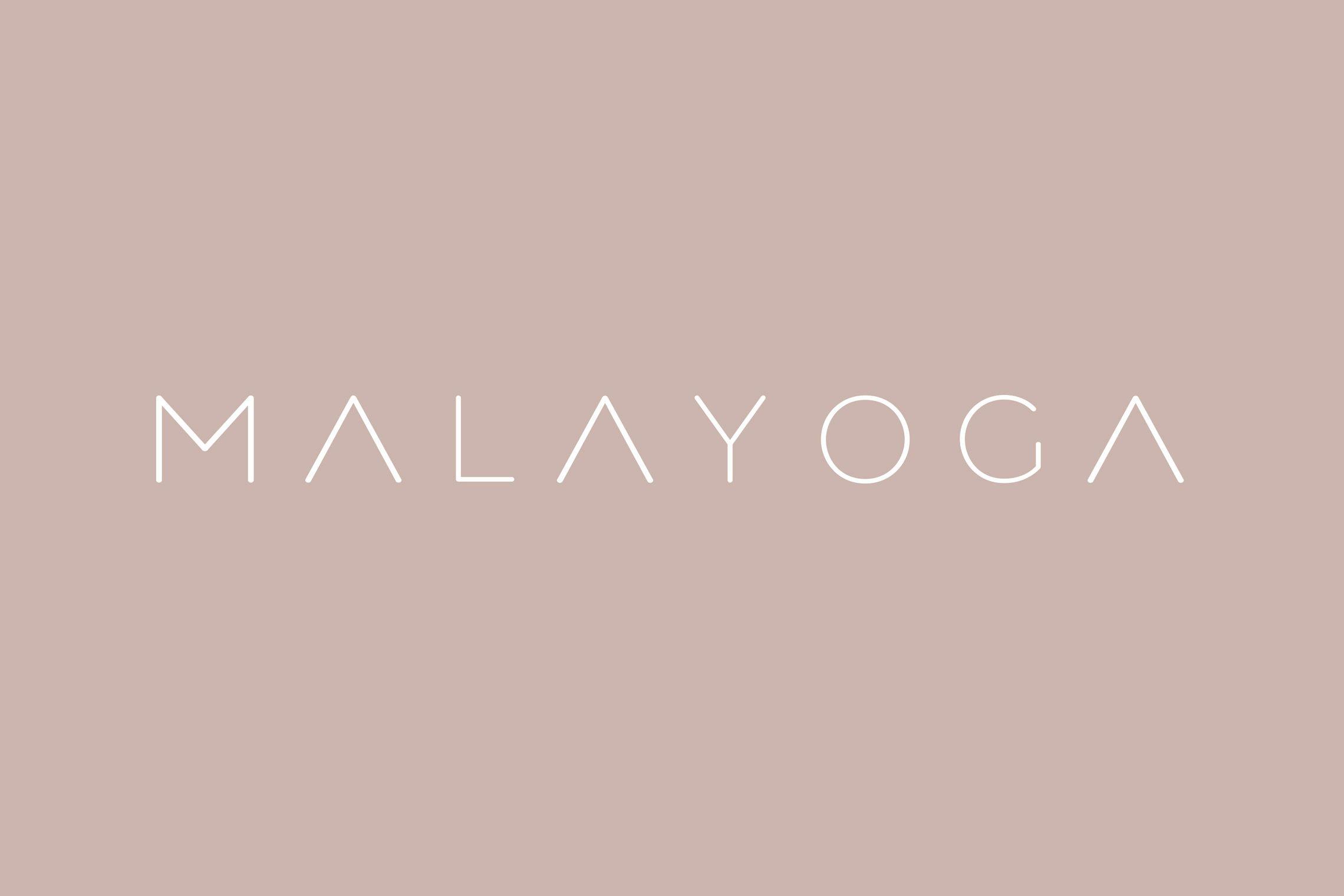 Brand Design Logo Yoga-Studio Malayoga