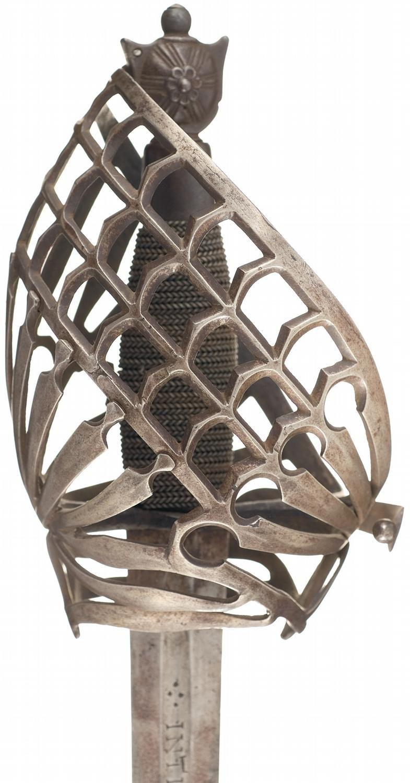 Basket Pistol Hidden Claymore Hilt