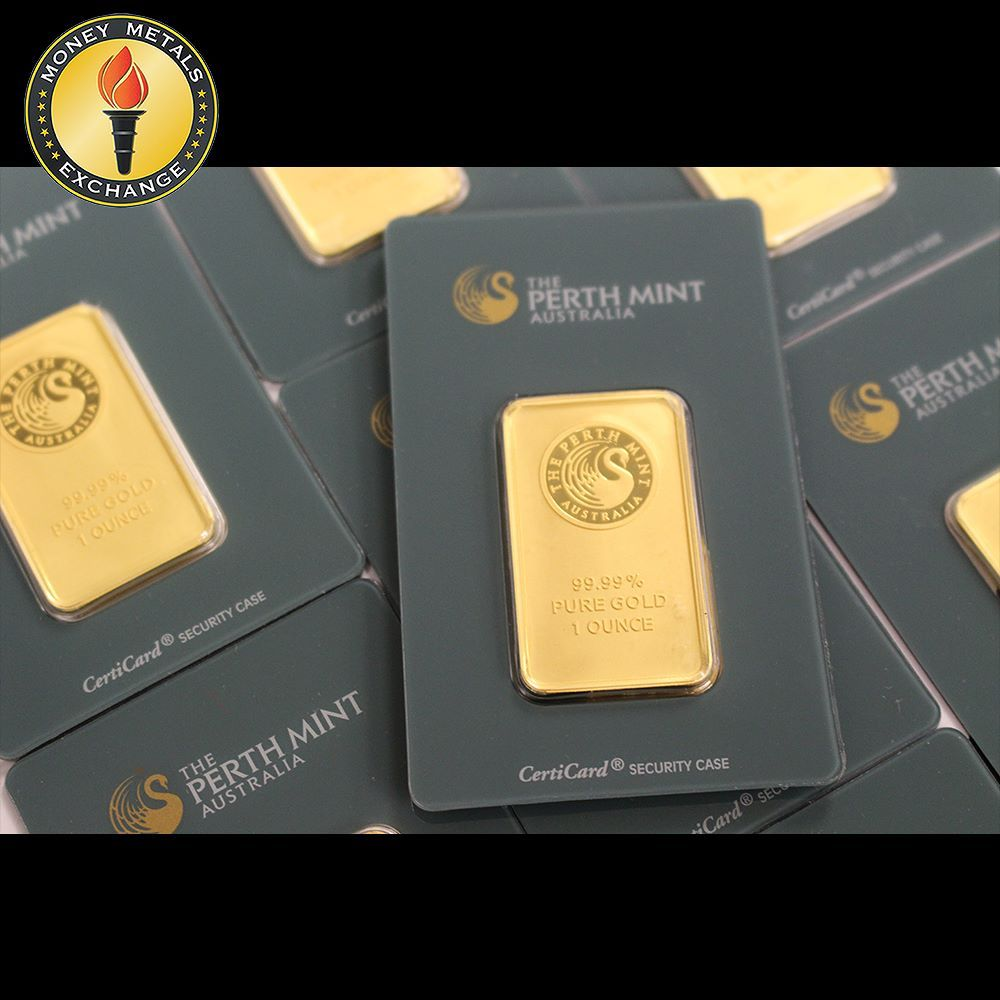 Australia S Perth Mint Makes Some Stunning 1oz Gold Bars Moneymetals Gold Bars For Sale Gold Bar Gold Coin Price