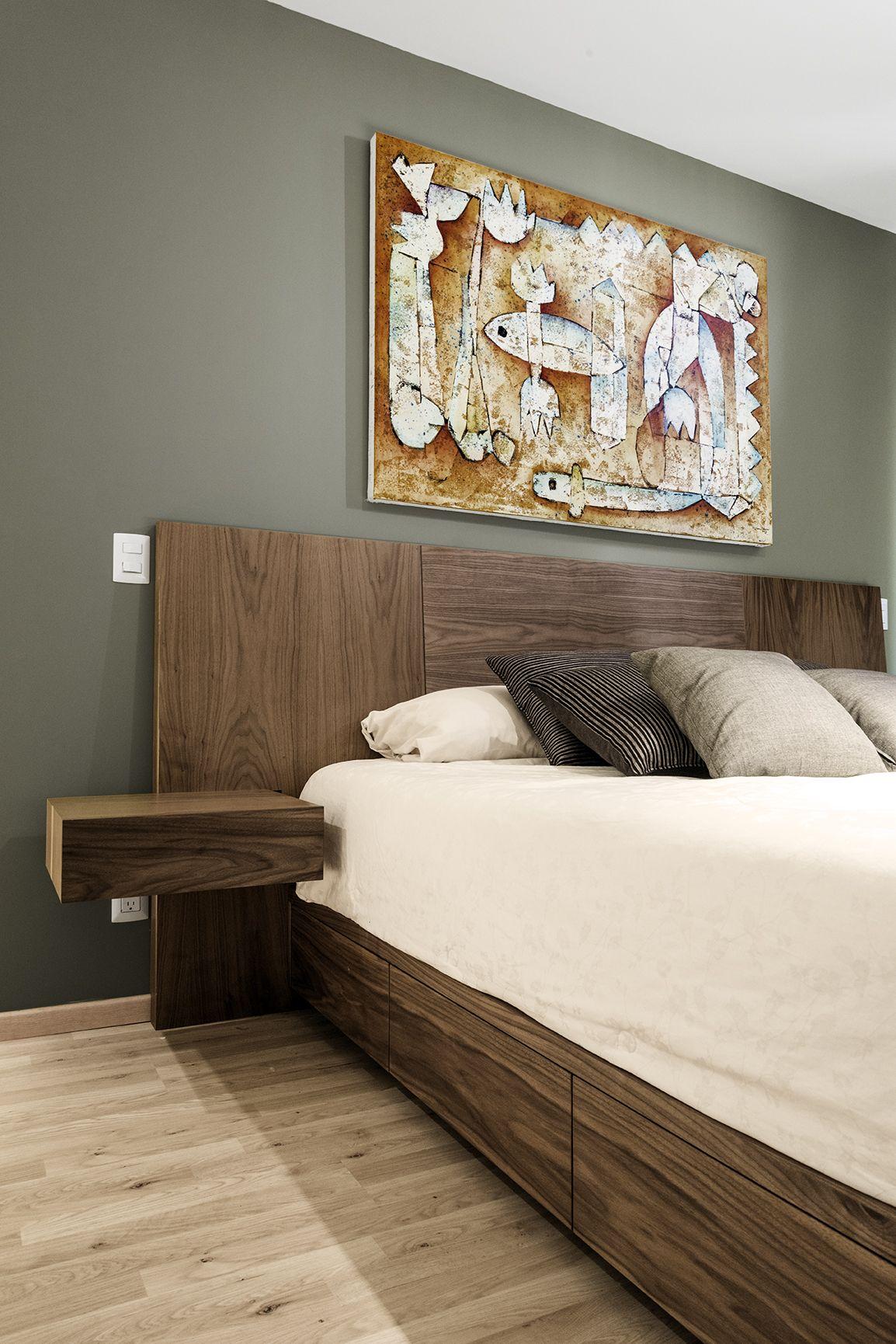 rec mara king con cajones en base de cama cuadro de juan