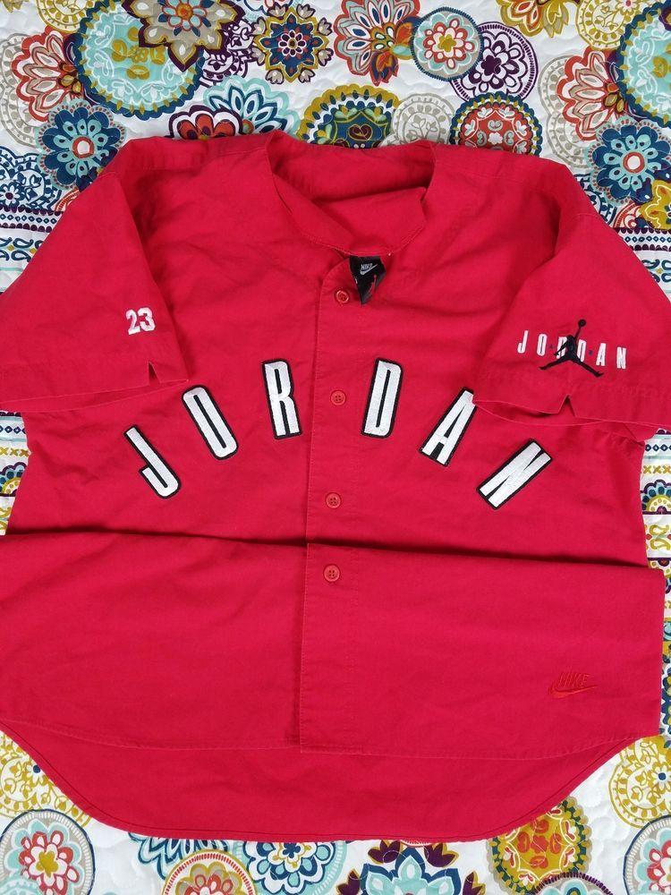 hot sale online 82a8c 435ab closeout vtg 90s mens nike michael jordan baseball jersey ...