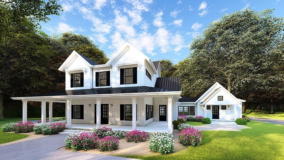 Southern Style House Plan 82502 With 4 Bed 4 Bath 4 Car Garage