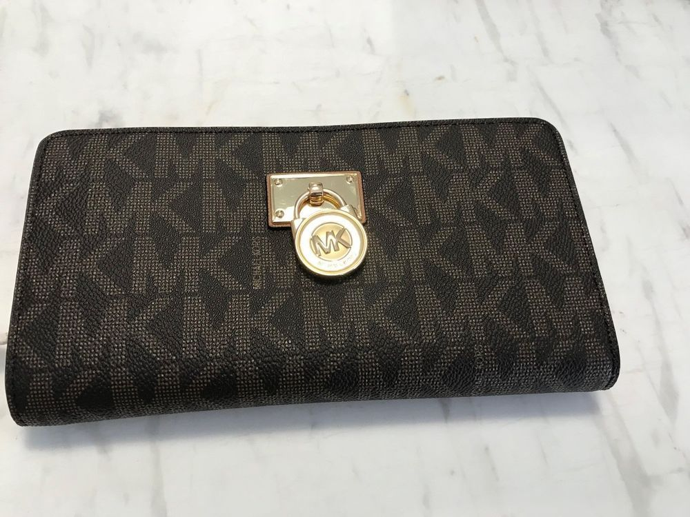 f7b1d1e6dd755c Michael Kors Hamilton Traveler Lg Zip Around Leather Wallet NWT 100%  Authentic #MichaelKors #WalletClutch