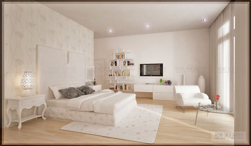 modern bedroom style with fanciful decor - http://www.decoration