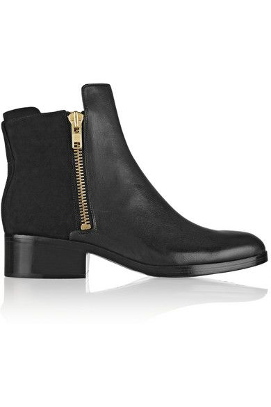 Crafted from smooth nubuck and leather, 3.1 Phillip Lim's 'Alexa' boots are a sleek update on a rugged classic.