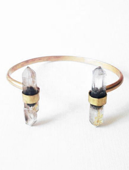 Double Quartz Cuff by theresekuempel