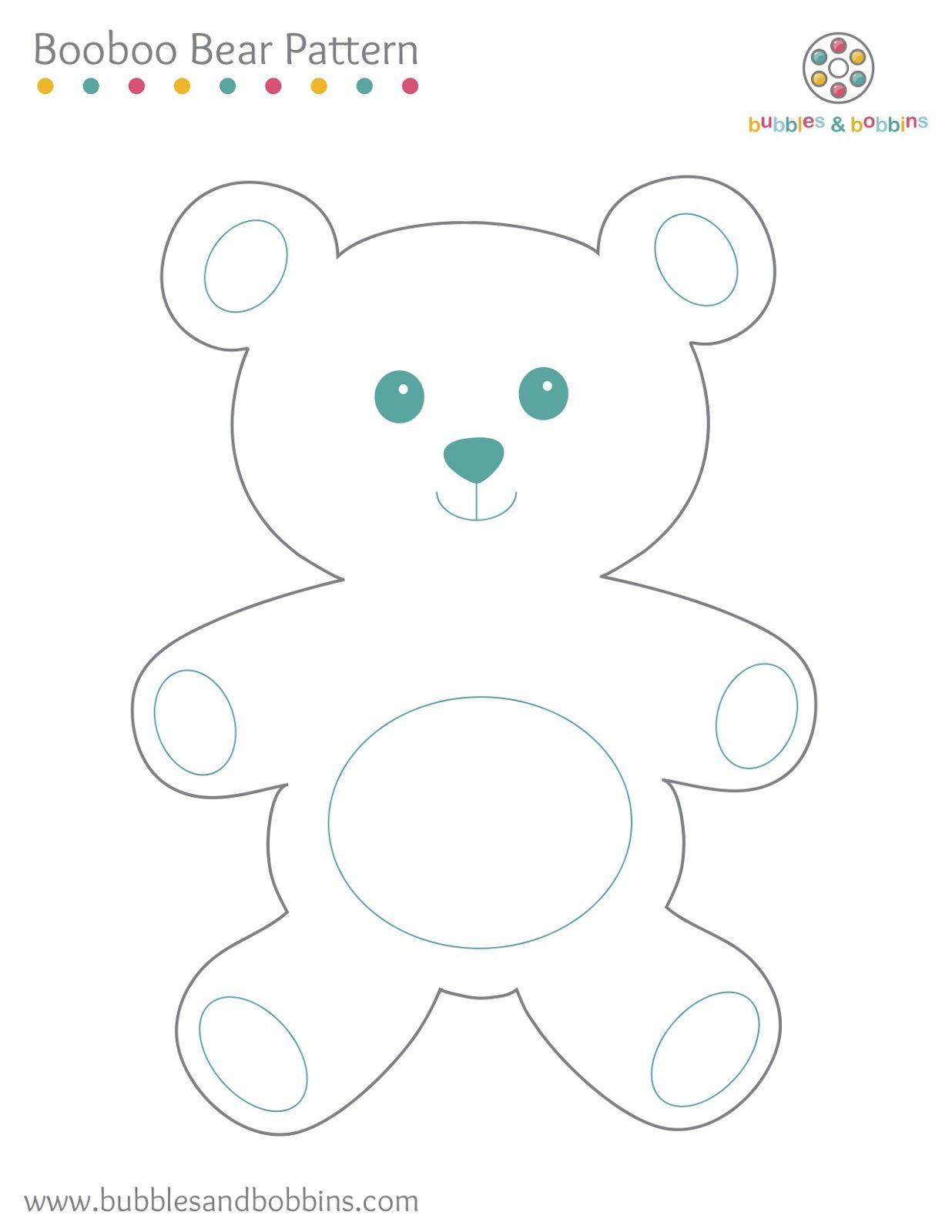 Booboo bear pattern | Stuffed Toy Patterns & Ideas | Pinterest ...