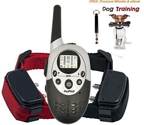Petphd Elite 1100d Dual Electronic Dog Training Shock Collars 1100