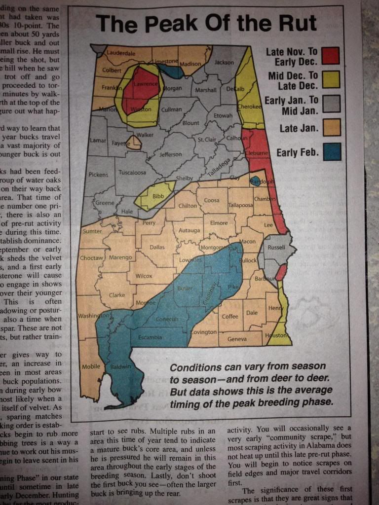 Alabama Rut Map  DEER  Pinterest