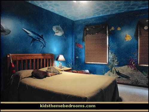 Theme Bedroom Decorating Ideas And Underwater Theme Decor Underwater Themed Rooms