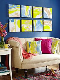 How to marbleize paper to make stand-out wall art