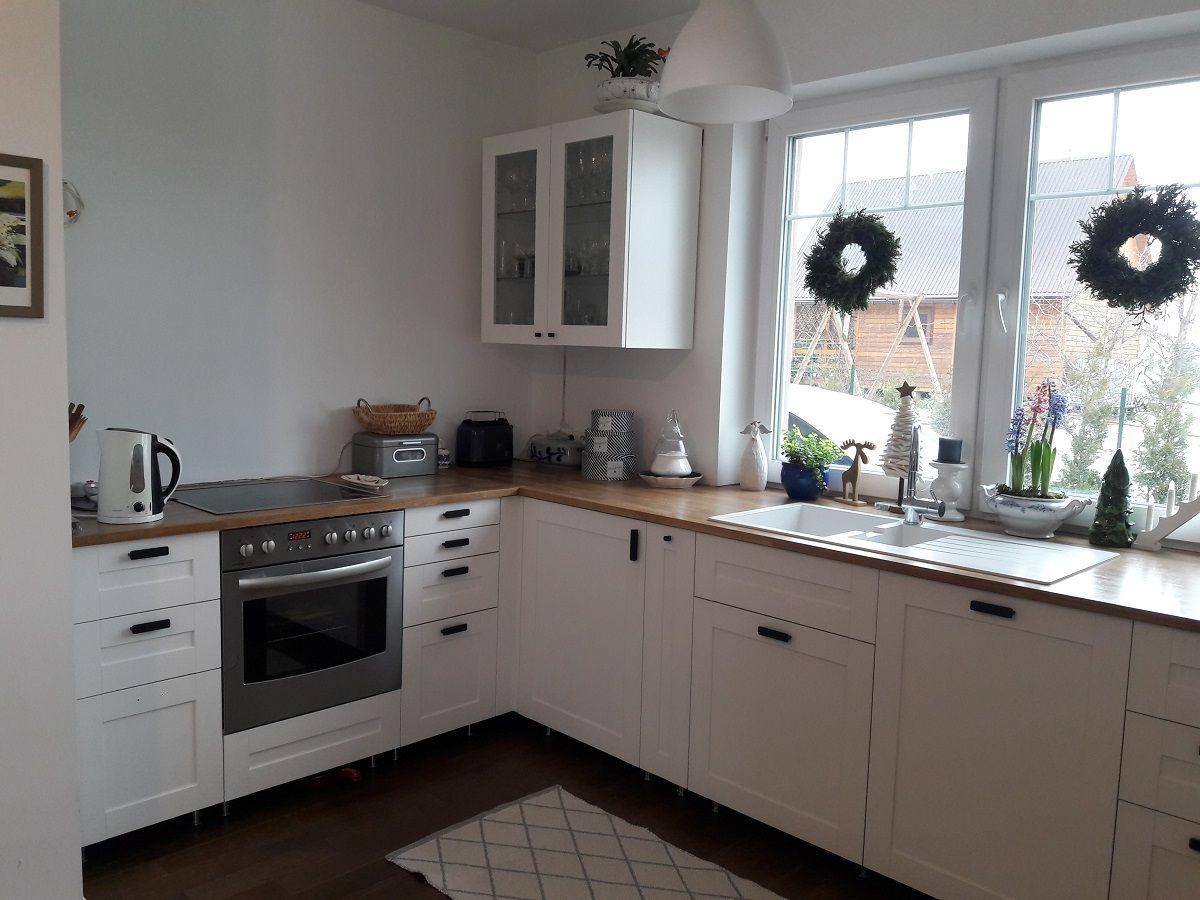Kuchnia Ikea Metod Z Frontami Sävedal I Uchwytami Hackås