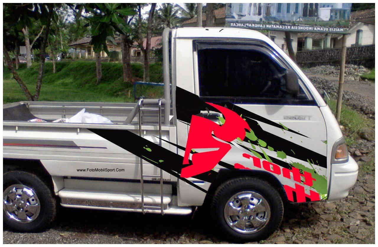 Modifikasi Mobil Pick Up Suzuki Futura Warna Putih Modifikasi Mobil Mobil Stiker Mobil